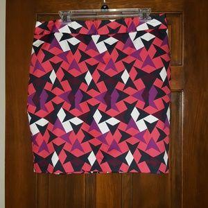 Womens multicolor Loft midi skirt